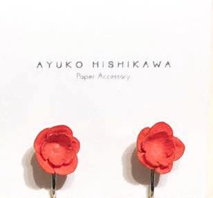 Ayuko fuji clip pair earrings
