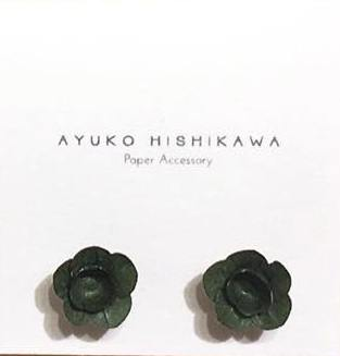 Ayuko fuji pair stud earrings black