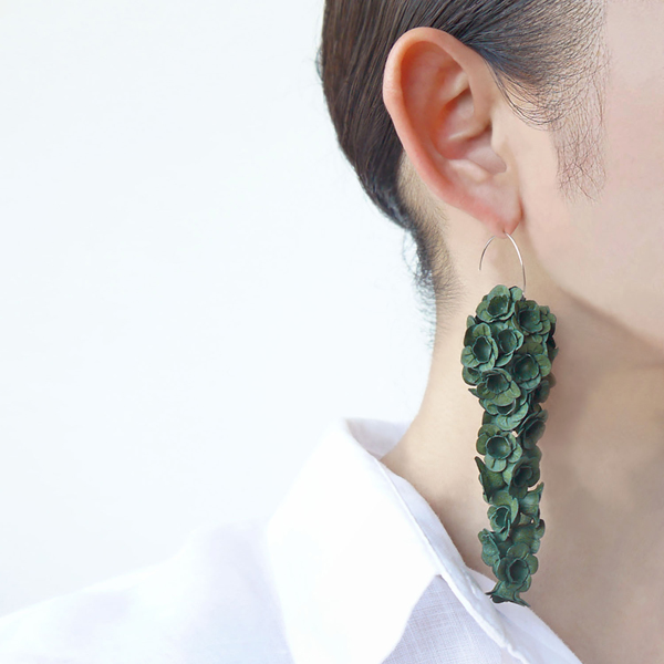 hook earring fuji l green-a