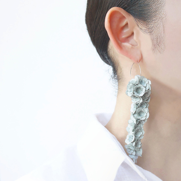 hook earring fuji l grey-a